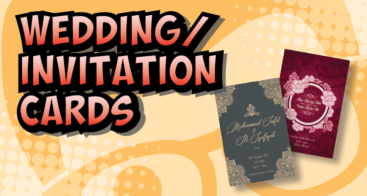 Product Breakdown: Wedding/ Event invitation cards